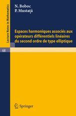 Espaces harmoniques associés aux opérateurs différentiels linéaires du second ordre de type elliptique