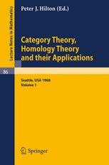 Category Theory, Homology Theory and their Applications I