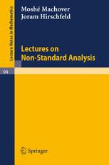 Lectures on Non-Standard Analysis
