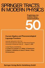 Current Algebra and Phenomenological Lagrange Functions