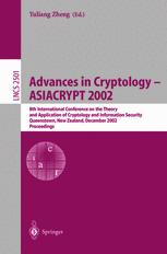 Advances in Cryptology — ASIACRYPT 2002