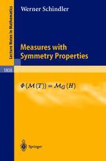 Measures with Symmetry Properties