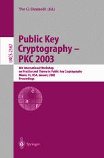 Public Key Cryptography — PKC 2003