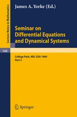 Seminar on Differential Equations and Dynamical Systems, II