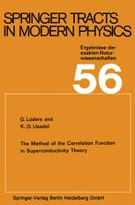Springer Tracts in Modern Physics, Volume 56