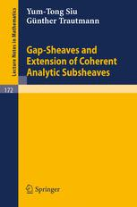 Gap-Sheaves and Estension of Coherent Analytic Subsheaves