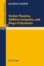 Torsion Theories, Additive Semantics, and Rings of Quotients