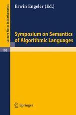 Symposium on Semantics of Algorithmic Languages