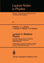 Lectures in Statistical Physics