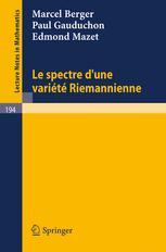 Le Spectre d'une Variété Riemannienne