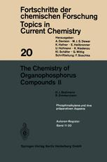 The Chemistry of Organophosphorus Compounds II