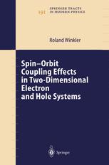 Spin--Orbit Coupling Effects in Two-Dimensional Electron and Hole Systems