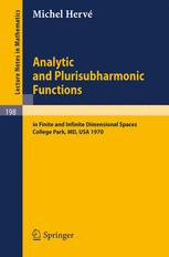 Analytic and Plurisubharmonic Functions