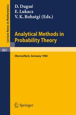 Analytical Methods in Probability Theory