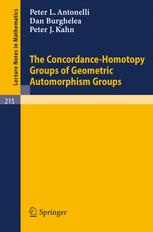 The Concordance-Homotopy Groups of Geometric Automorphism Groups