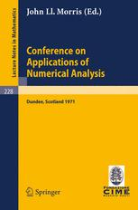 Conference on Applications of Numerical Analysis