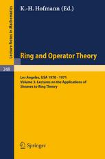 Lectures on the Applications of Sheaves to Ring Theory