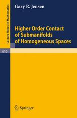 Higher Order Contact of Submanifolds of Homogeneous Spaces
