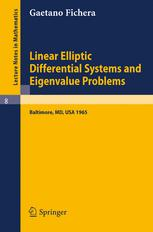 Linear elliptic differential systems and eigenvalue problems