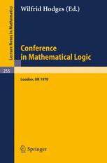 Conference in Mathematical Logic — London '70