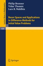 Besov Spaces and Applications to Difference Methods for Initial Value Problems