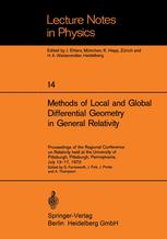 Methods of Local and Global Differential Geometry in General Relativity