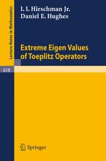Extreme Eigen Values of Toeplitz Operators