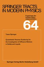 Springer Tracts in Modern Physics, Volume 64