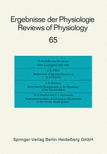 Ergebnisse der Physiologie Reviews of Physiology, Volume 65