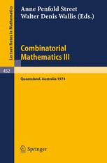 Combinatorial Mathematics III