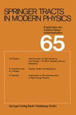 Springer Tracts in Modern Physics, Volume 65