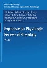 Ergebnisse der Physiologie Reviews of Physiology, Volume 66