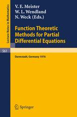 Function Theoretic Methods for Partial Differential Equations