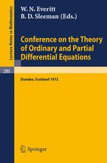 Conference on the Theory of Ordinary and Partial Differential Equations