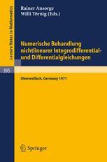 Numerische Behandlung nichtlinearer Integrodifferential-und Differentialgleichungen