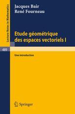 Etude Géométrique des Espaces Vectoriels
