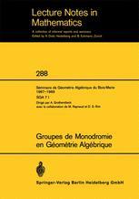 Groupes de Monodromie en Géométrie Algébrique
