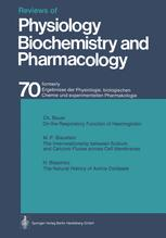 Reviews of Physiology, Biochemistry and Pharmacology, Volume 70