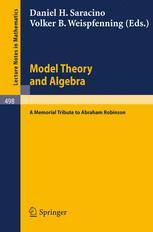 Model Theory and Algebra