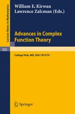 Advances in Complex Function Theory