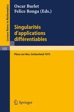 Singularités d'Applications Différentiables