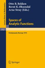 Spaces of Analytic Functions