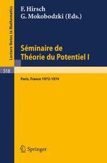 Séminaire de Théorie du Potentiel Paris 1972–1974