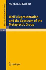 Weil's Representation and the Spectrum of the Metaplectic Group