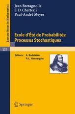 Ecole d'Été de Probabilités: Processus Stochastiques