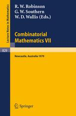 Combinatorial Mathematics VII