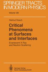 Critical Phenomena at Surfaces and Interfaces