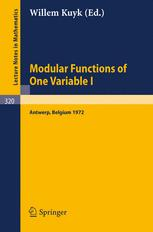Modular Functions of One Variable I