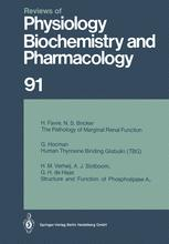 Reviews of Physiology, Biochemistry and Pharmacology, Volume 91