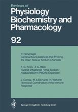Reviews of Physiology, Biochemistry and Pharmacology, Volume 92